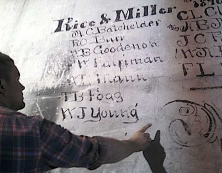 Developer Roy Hubbard Uncovers Original Signatures Inside Building