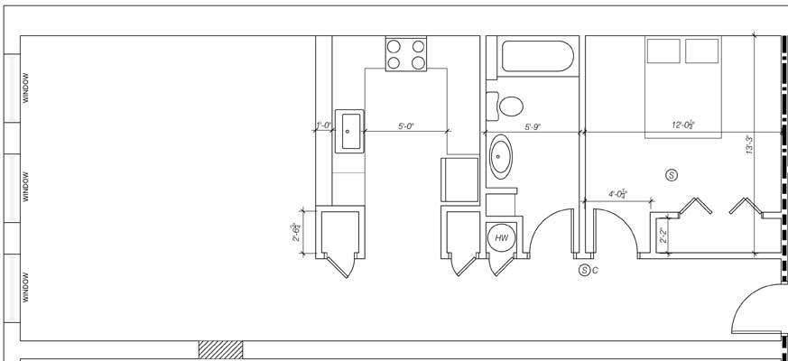 1 Bedroom Apartment - Bangor, ME