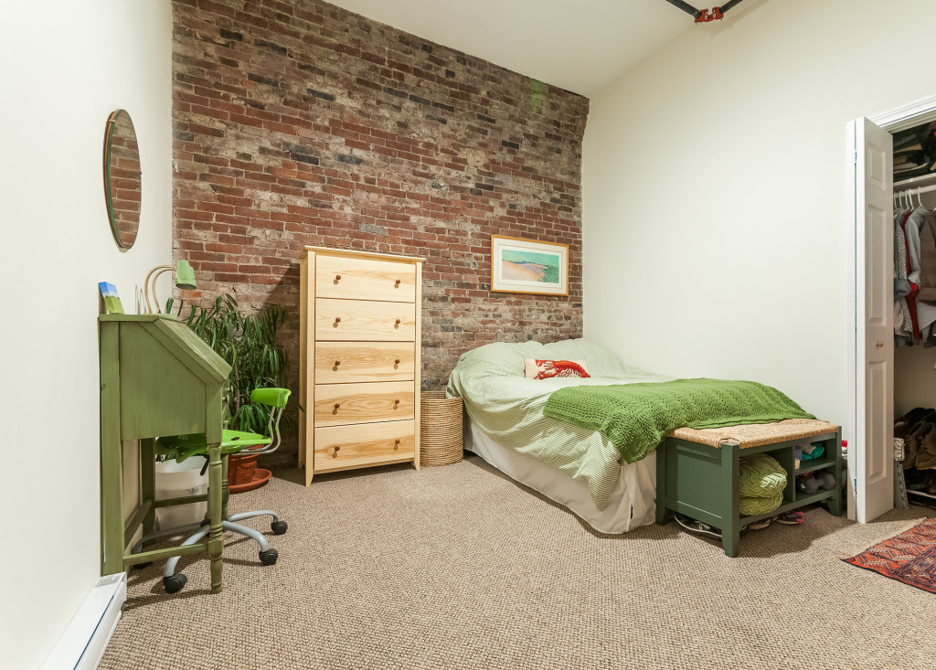 Original Brick Wall in Bedroom