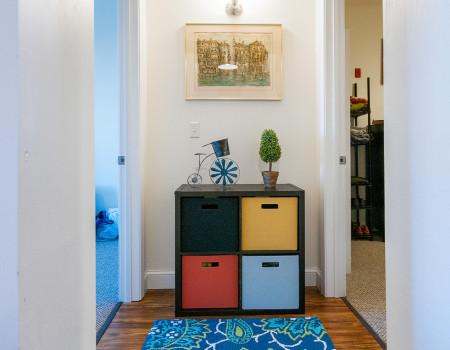 Hallway Access to 2 Bedrooms