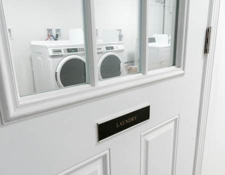 Locked in-building laundry for apartments without in-unit hookups