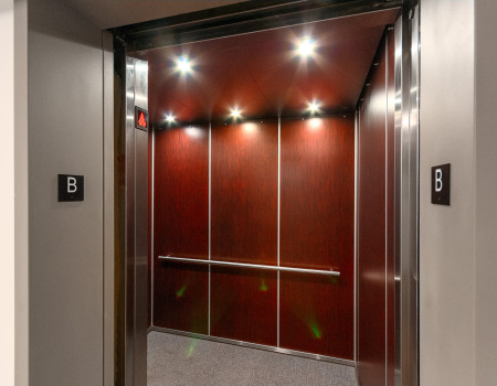 Elevator to every floor – don't bother with the stairs!