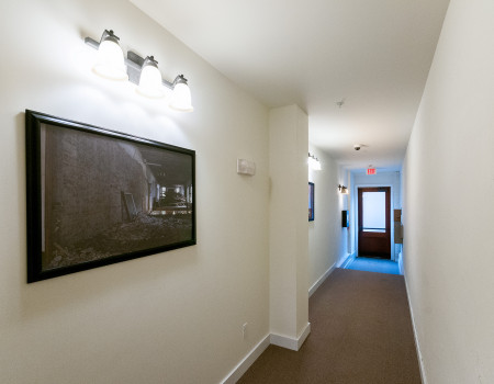 Bright hallways featuring our favorite pre-renovation images